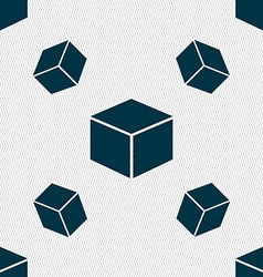 Cube icon sign seamless pattern with geometric vector