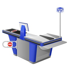 cash register terminal vector image
