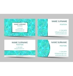 Mint boho styled business-card set vector