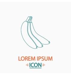 Banana computer symbol vector