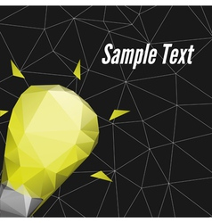 Abstract Triangle poster design template Realize y vector image