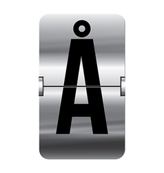 Alphabet silver flipboard letters aa vector image vector image