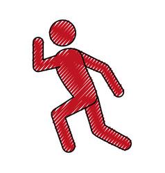 athlete running pictogram vector image