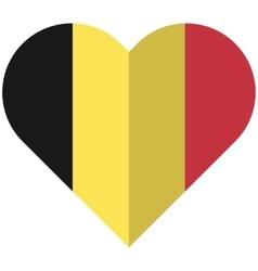 Belgium flat heart flag vector