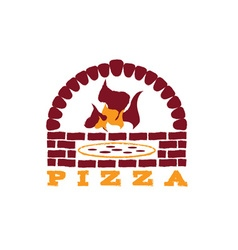 Brick oven pizza vector