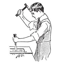 Carpenter vintage vector
