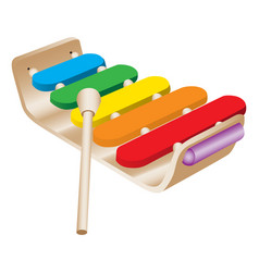 Childs toy xylophone vector
