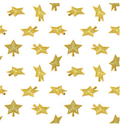christmas star tree topper pattern vector image vector image