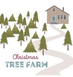 Christmas tree farm vector