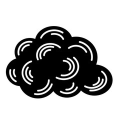 cloud icon simple black style vector image