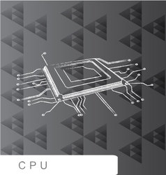 Cpu backgroud abstact line brush vector