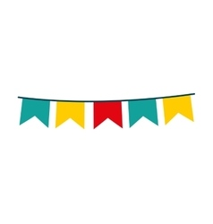 garlands circus isolated icon design vector image