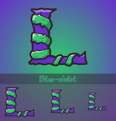 Halloween decorative alphabet - l letter vector