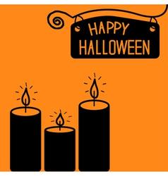 Happy halloween candle card vector