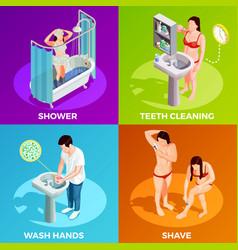 Hygiene isometric design concept vector