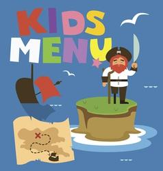 Kids menu Treasure island vector image