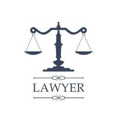 Lawyer icon of justice scales emblem vector