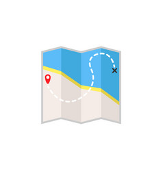 map flat icon travel navigation vector image