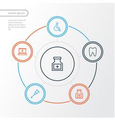 Medicine outline icons set collection of medicine vector