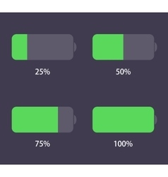 modern battery icons set vector image vector image