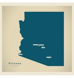 Modern Map USA Arizona vector image vector image