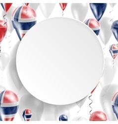 Norwegian national flag vector