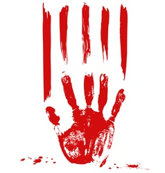 palm and blood vector image vector image