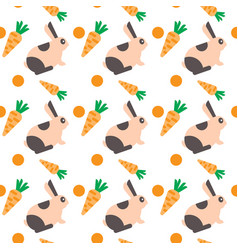 Rabbit with carrot seamless pattern abstract vector