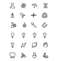 Science line icons 1 vector