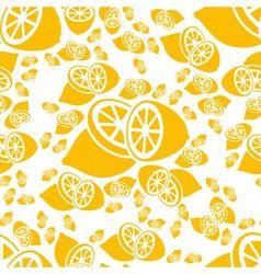 Seamless lemon pattern vector