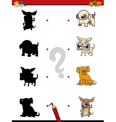 Shadow game with dogs vector