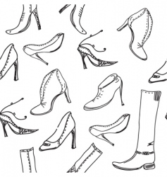 shoe sketch vector image