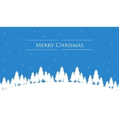 Silhouette of many tree christmas landscape vector
