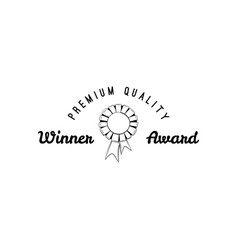 simply award medal badge vector image