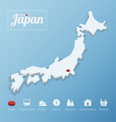 States of Japan map vector image