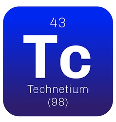 Technetium chemical element vector image