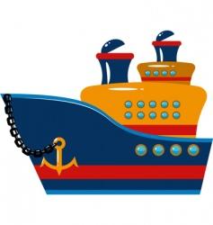 Toy ship vector