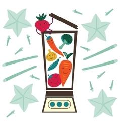 Vegetable smoothie preparation vector