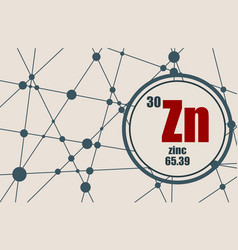 zinc chemical element vector image vector image