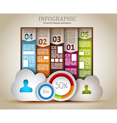 Infographic elements - Cloud and Technology vector image