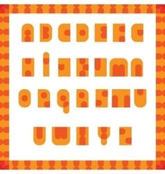 English alphabet pop art retro font vector image