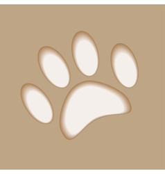 Realistic animal foot applique cut paper with soft vector