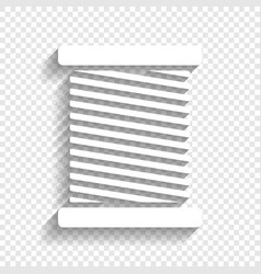Thread sign white icon with vector