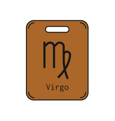 Virgo sign of the zodiac flat symbol horoscope vector