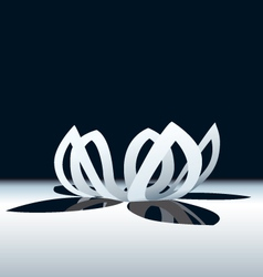 Origami lotus flower vector