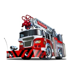 Cartoon firetruck vector