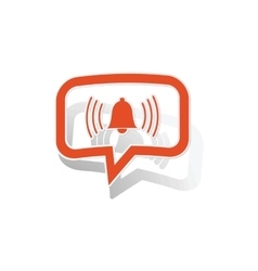 Alarm message sticker orange vector