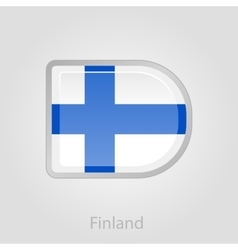 Finland flag button vector