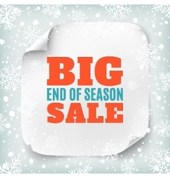 Big end of season sale poster template vector