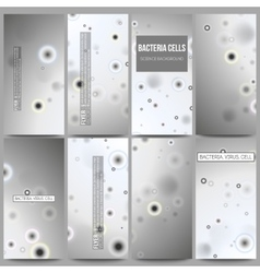 Set of modern flyers molecular research cells in vector